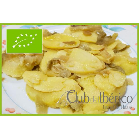 Plato de patatas a lo pobre 100% ecológico